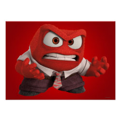 Matte Poster with Anger from Disney Pixar's Inside Out design