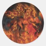 FireDancer Art Sticker