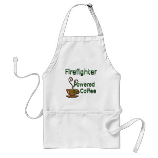 Firefighte Powered by Coffee Adult Apron