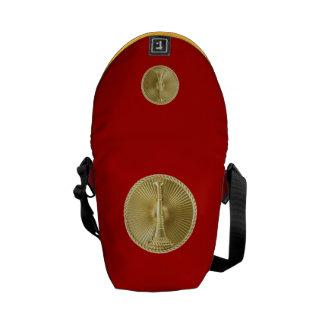 Firefighter 1 Bugle Medallion Messenger Bags