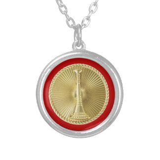 Firefighter 1 Bugle Medallion Necklace