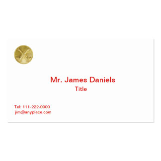 Firefighter 2 Bugle Medallion Double-Sided Standard Business Cards (Pack Of 100)