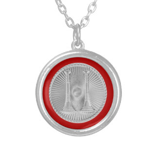Firefighter 2 Bugle Silver Captain Medallion Silver Plated Necklace
