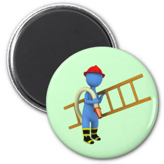 Firefighter 2 Inch Round Magnet