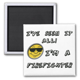 Firefighter 2 Inch Square Magnet