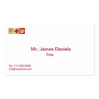 Firefighter 2 Trumpet Shield Double-Sided Standard Business Cards (Pack Of 100)