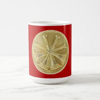 Firefighter 4 Bugle Gold Medallion Coffee Mug