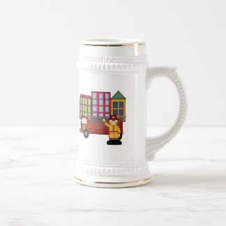 Firefighter 4th Birthday Gifts Coffee Mugs