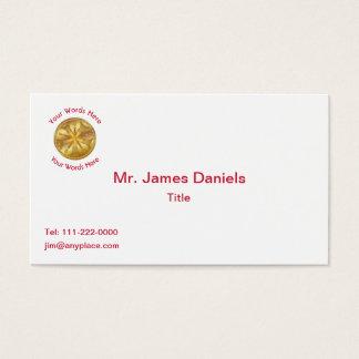 Firefighter 5 Bugle Chiefs Gold Medallion Business Card