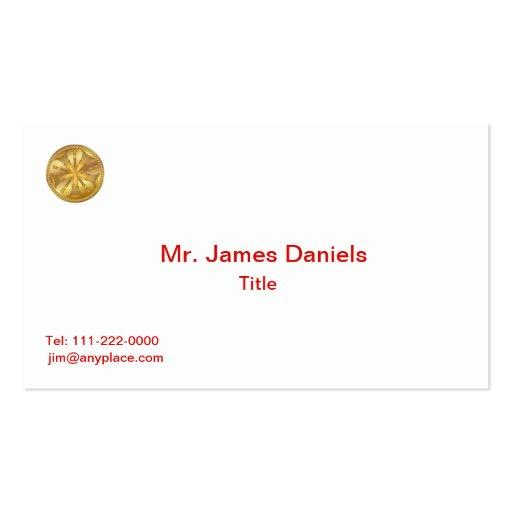 Firefighter 5 Bugle Gold Medallion Business Cards
