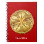 Firefighter 5 Bugle Gold Medallion Notebook
