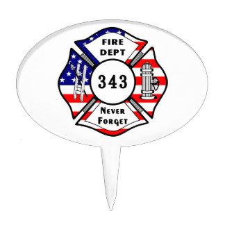 Firefighter 9/11 cake topper