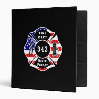 Firefighter 9/11 Never Forget 343 Binder