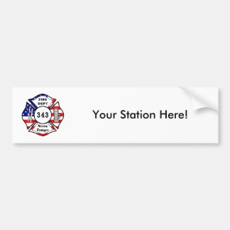 Firefighter 9/11 Never Forget 343 Bumper Sticker