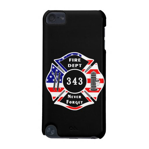 Firefighter 9/11 Never Forget 343 iPod Touch (5th Generation) Case