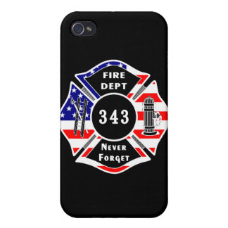 Firefighter 9/11 Never Forget 343 Covers For iPhone 4