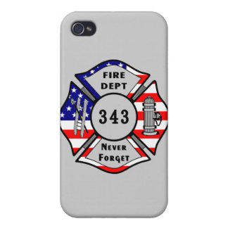 Firefighter 9/11 Never Forget 343 iPhone 4 Covers