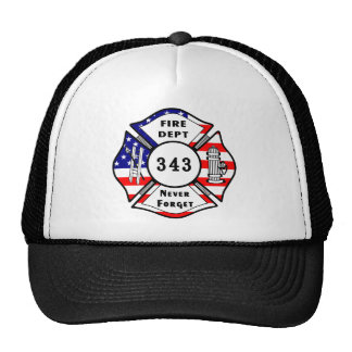 Firefighter 9/11 Never Forget 343 Mesh Hats