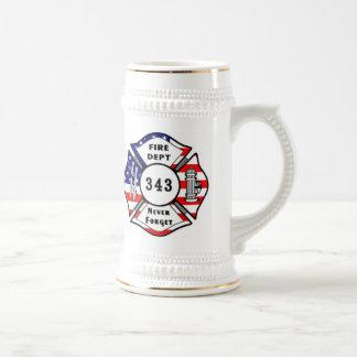 Firefighter 9/11 Never Forget 343 Mug