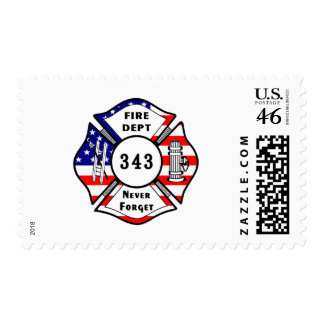Firefighter 9 11 Never Forget 343 Stamps