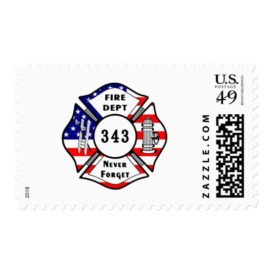 Firefighter 9/11 Never Forget 343 Postage