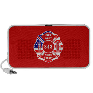 Firefighter 9/11 Never Forget 343 Mini Speakers
