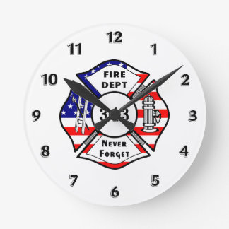 Firefighter 9/11 round clock