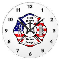 Firefighter 9/11 round clocks