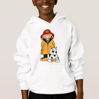 Firefighter and Dog Hoodie