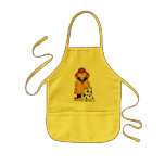 Firefighter and Dog Kids' Apron