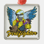 Firefighter Angel Christmas Ornaments