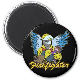 Firefighter Angel Refrigerator Magnet