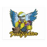 Firefighter Angel Postcards