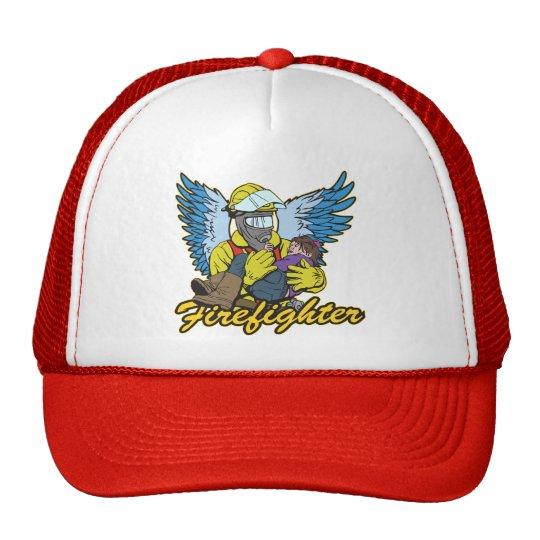 Firefighter Angel Trucker Hat