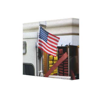Firefighter Art Posters Canvas Print