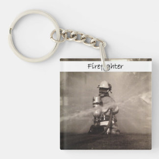 Firefighter At Work Keychain