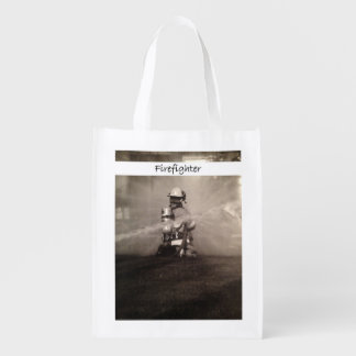 Firefighter At Work Market Tote