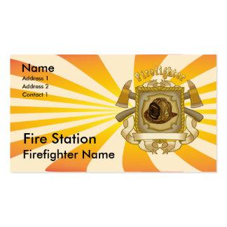 Firefighter Axe Shield Business Card Template