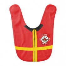 Firefighter Baby Bib (1)