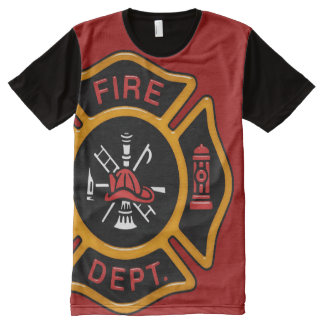 Firefighter Badge All-Over-Print T-Shirt