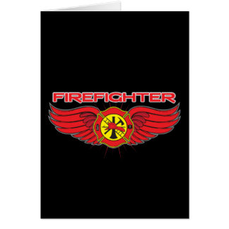 Firefighter Badge and Wings Card
