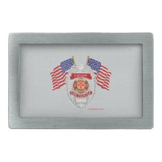 FireFighter_Badge_Captain Hebilla Cinturon Rectangular