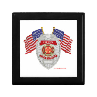 FireFighter_Badge_Captain Jewelry Box