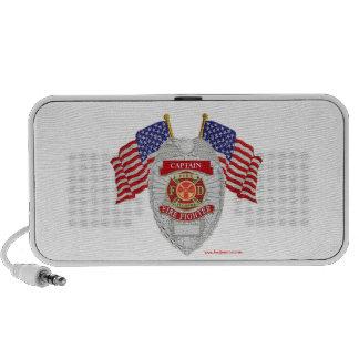 FireFighter_Badge_Captain Portable Speaker