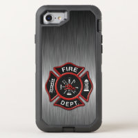 Firefighter Badge Deluxe OtterBox Defender iPhone 8/7 Case