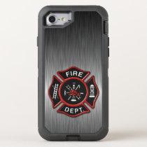 Firefighter Badge Deluxe OtterBox Defender iPhone 8/7 Case