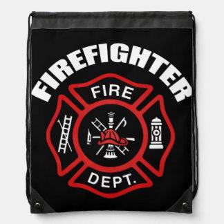 Firefighter Badge Drawstring Backpack