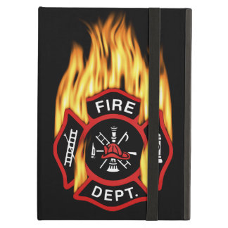 Firefighter Badge Flaming Case For iPad Air