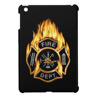 Firefighter Badge Flaming Gold iPad Mini Cases