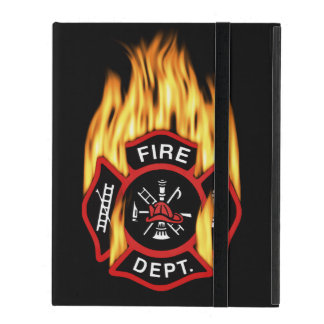 Firefighter Badge Flaming iPad Covers